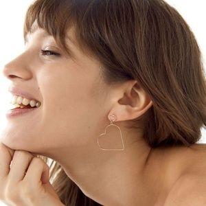 UO Heart Drop Earrings
